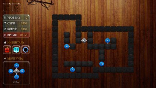 Игра-головоломка Атомы для Android и iPhone: собираем молекулы