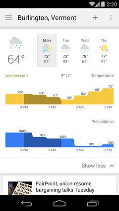 Новости и погода от Google