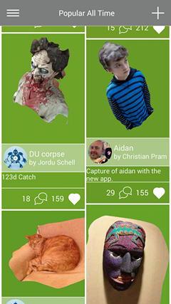 Приложение 123D Catch для Android превратит фото в трехмерную модель