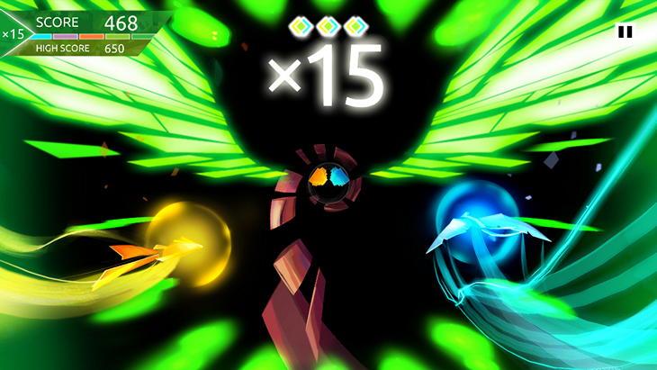 Android-игра Entwined Challenge: гипнотический полет по тоннелю
