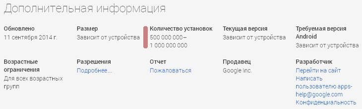 ���������� Google Play ������ ��������� ����� 500 ��� ���