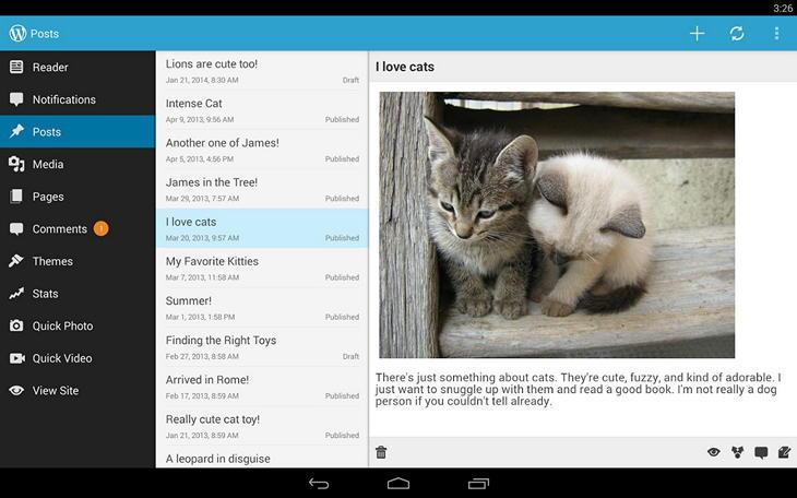 Приложение WordPress для Android обновилось