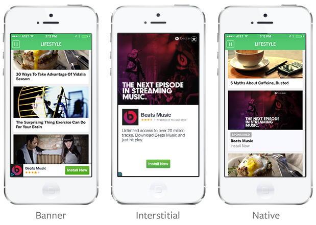 Facebook покажет рекламу в мобильных приложениях