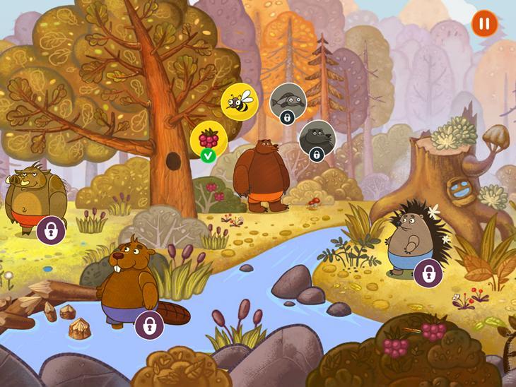 Обзор детской игры Forestry для iPhone и iPad: знакомство с лесными жителями