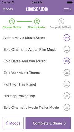 Обзор iOS-приложения JustAddAudio: создаем видеоклипы на iPhone