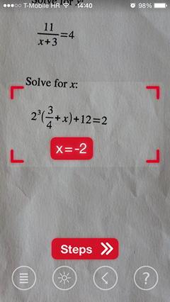 Приложение PhotoMath - решаем уравнения камерой iPhone