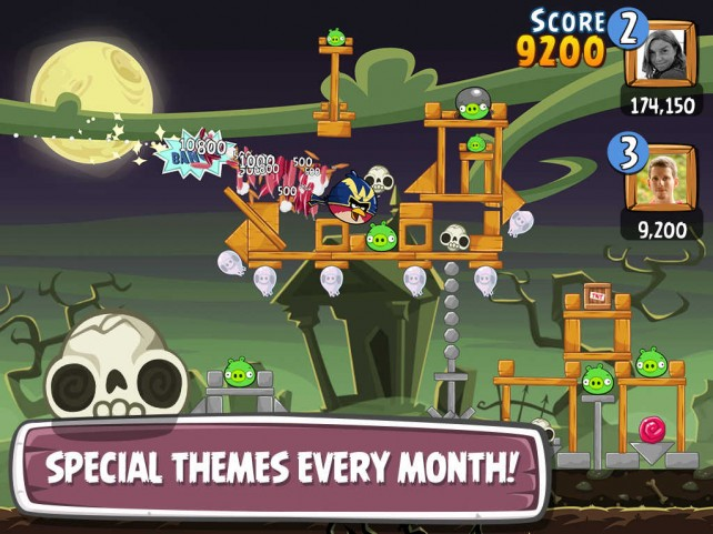iOS-игра Angry Birds Friends к Хэллоуину готова