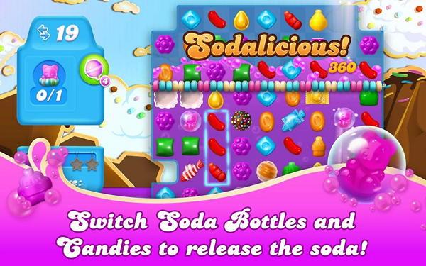 Игра Candy Crush Soda Saga для Android: сладости и газировка