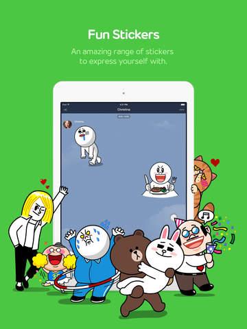 Мессенджер Line для iPad