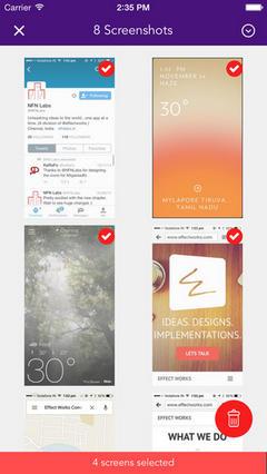 Приложение Screeny для iOS: удаляем скриншоты из памяти смартфона
