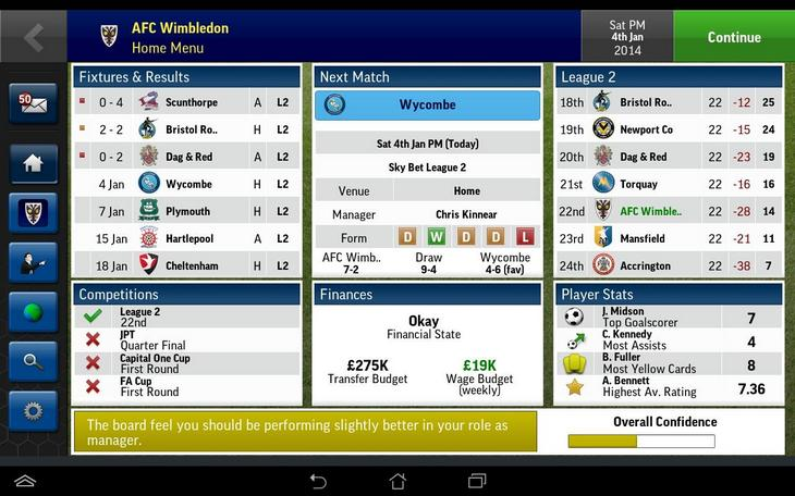 Фтубольный менеджер Football Manager Handheld 2015 для Android