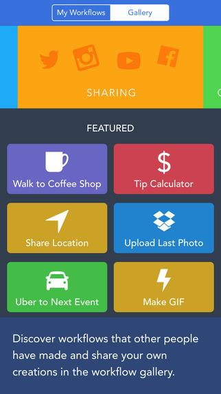 Приложение Workflow автоматизирует ваш iPhone