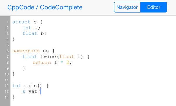 Приложение CppCode родилось как вызов - реализовать полноценный C/C++...
