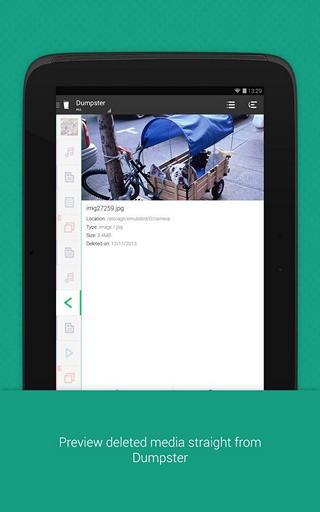 Восстанавливаем удаленные файлы на Android с приложением Dumpster