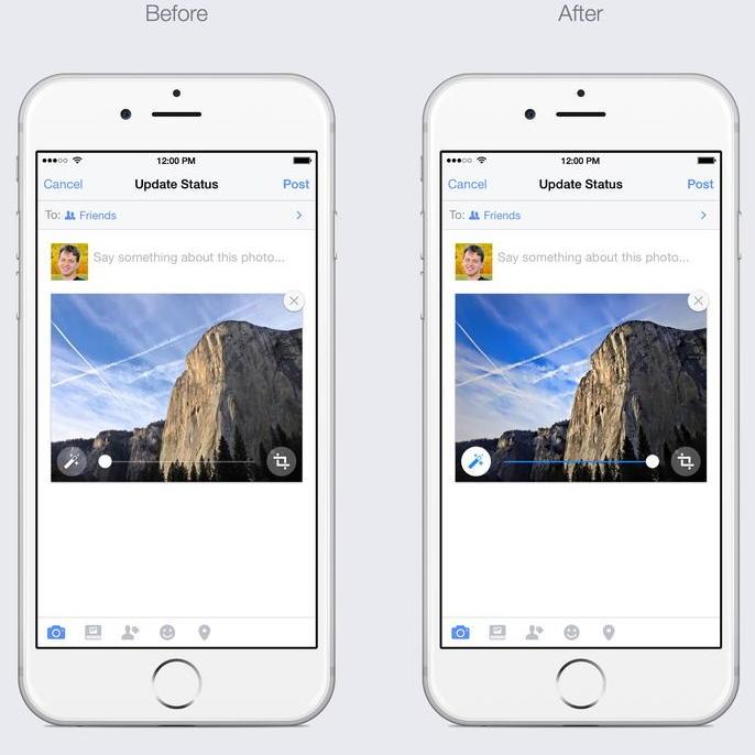 Мобильные фото Facebook решил улучшать автоматически
