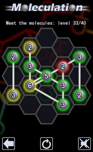 Moleculation для Android: головоломка для начинающих демиургов