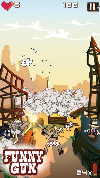 Игра Funny Gun  для iPhone и iPad: разудалый вестерн
