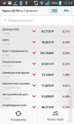 РБК Валюты: динамика, калькулятор и кросс-курсы более трех десятков валют в одном элегантном приложении