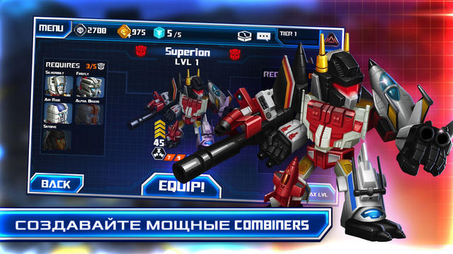 Скриншот игрыTRANSFORMERS: Battle tactics для iPhone
