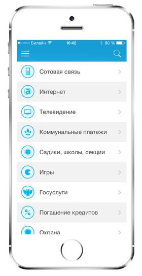 Скриншот приложения ЦКасса для iPhone: экономим время на оплате услуг