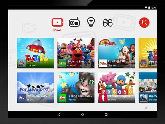 Приложение YouTube Kids для детей