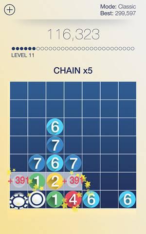 Скриншот головоломки Drop7 на Андроид