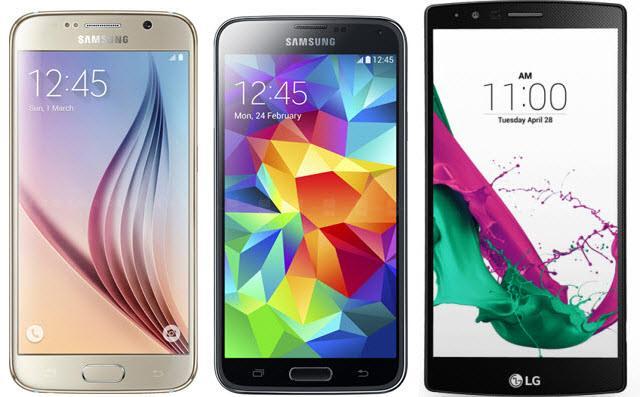 Фото Galaxy S6, S5 и LG G4