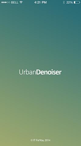 Аудиоплеер UrbanDenoiser для iOS