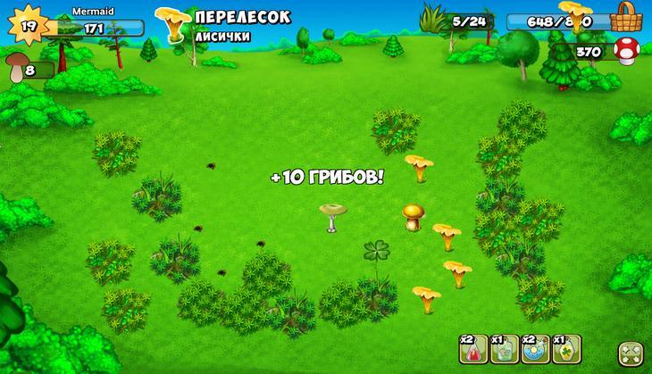 Игра Грибники и Кланы на Андроид и iOS