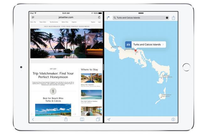 iOS 9 многозадачность в iPad