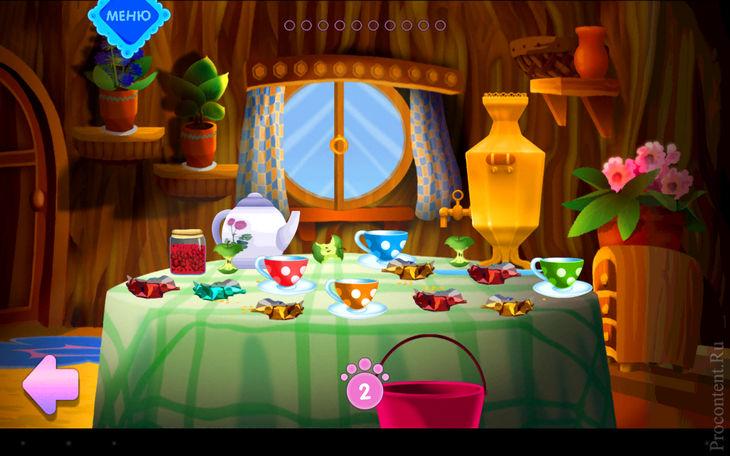 Лунтик Посуда игра для смартфонов и планшетов на Андроид