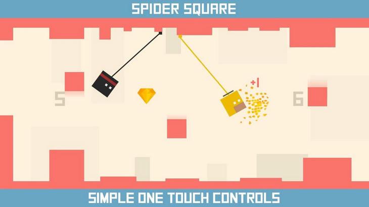 Spider Square на Андроид – прилипчивый квадрат