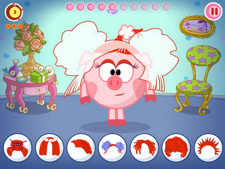 Детская игра Смешарики.Желания на Андроид