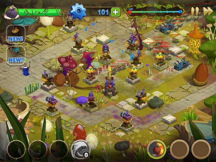 Игра Карл - король жуков на iOS - башенная защита в микромире