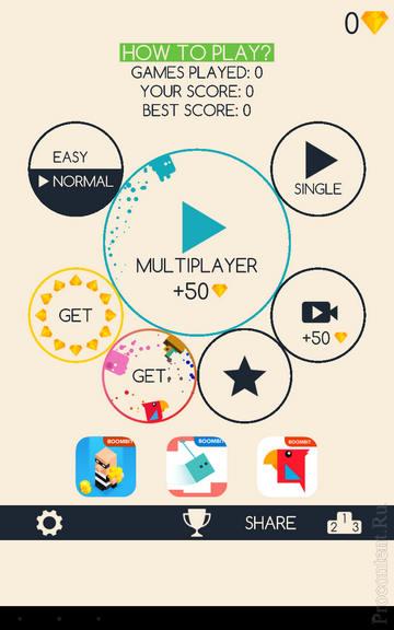 Running Circles на Андроид - главное меню