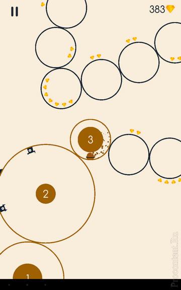 Третий круг в игре Running Circles