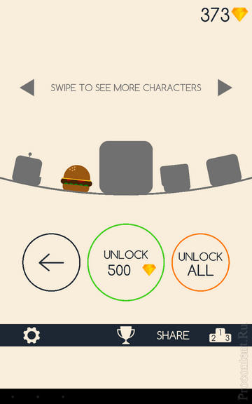 Покупка персонажа в Running Circles на Андроид