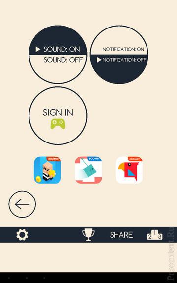 Настройки в игре Running Circles на Андроид