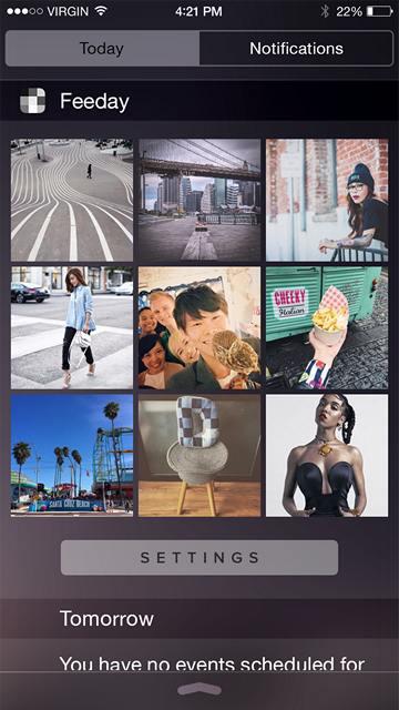 Виджет Feeday для Instagram