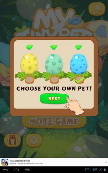 Мое домашнее животное на Андроид - выбираем яйцо