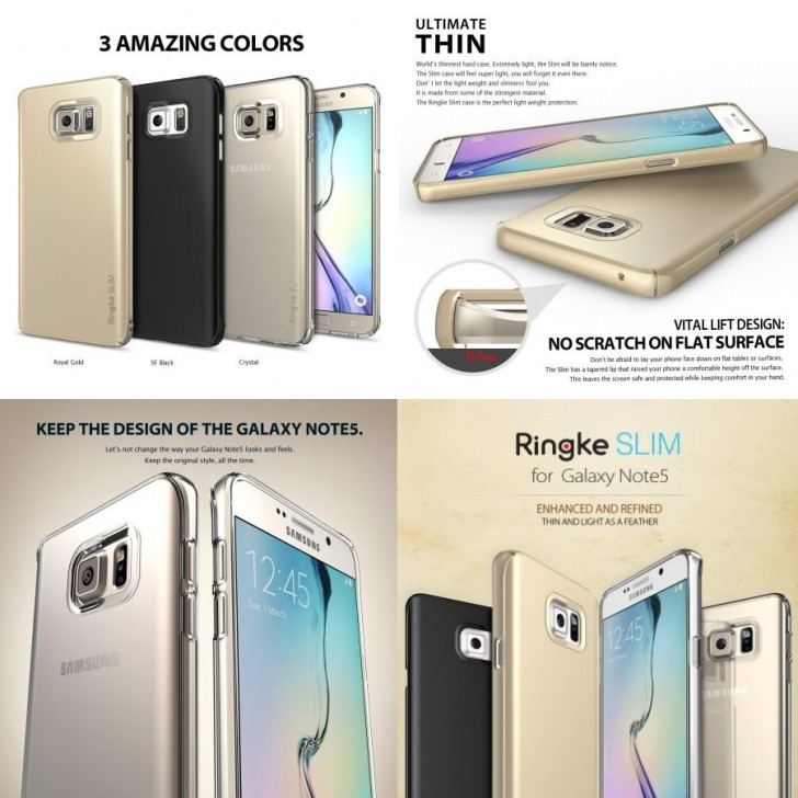Samsung Galaxy Note 5 фото рендеры
