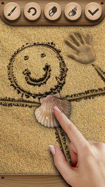 Рисование на песке 2