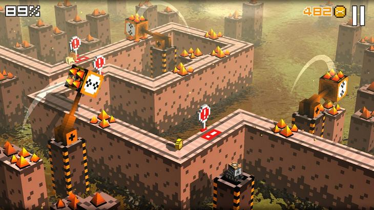 Игра Cliffy Jump на Андроид - аркада в зарослях пикселей