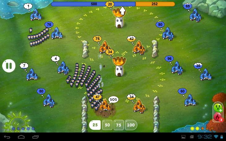 Война Грибов на Андроид: массовое побоище