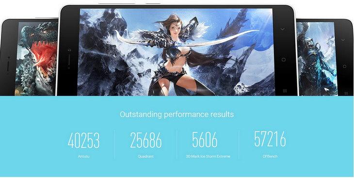 Тесты смартфона Xiaomi Mi4i: AnTuTu, Quadrant, 3D Mark и CFBench