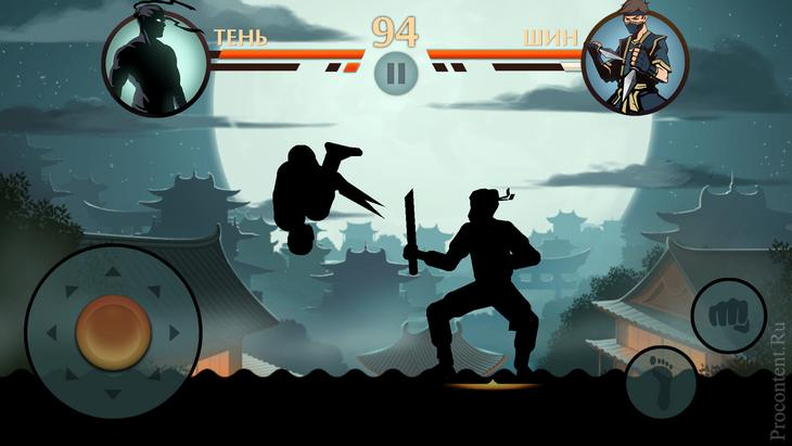 Процесс боя в Shadow Fight 2