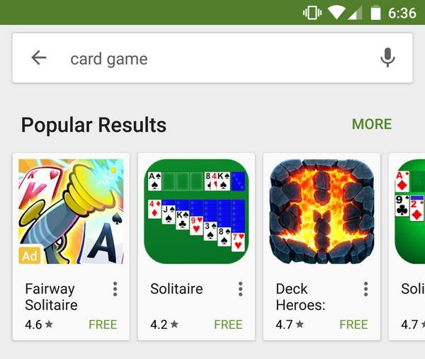 Продвижение приложений в Google Play реклама в результатах поиска
