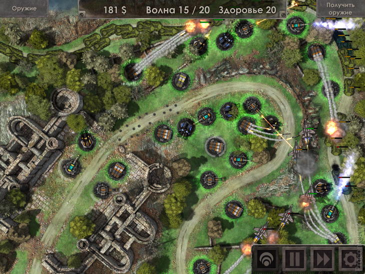 Защита башен Defense Zone 3 для iPhone и Android