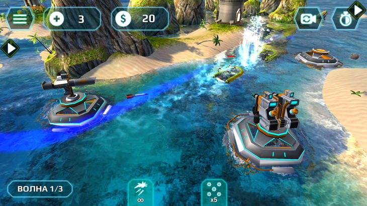 Защита башни Naval Storm TD для iPhone, Android и iPad