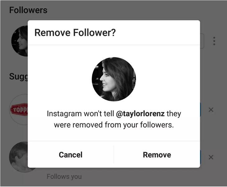 В социальная сеть Instagram можно будет удалить фанатов
